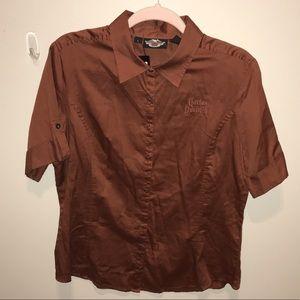 Harley Davidson short sleeve embroidered shirt